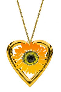 sunflower jewelry yellow flower gift idea for friends spring jewelry Yellow Sunflower necklace Crescent Moon Necklace,Sunflower pendant family