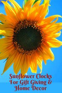 Merveilleux Sunflower Wall Clocks