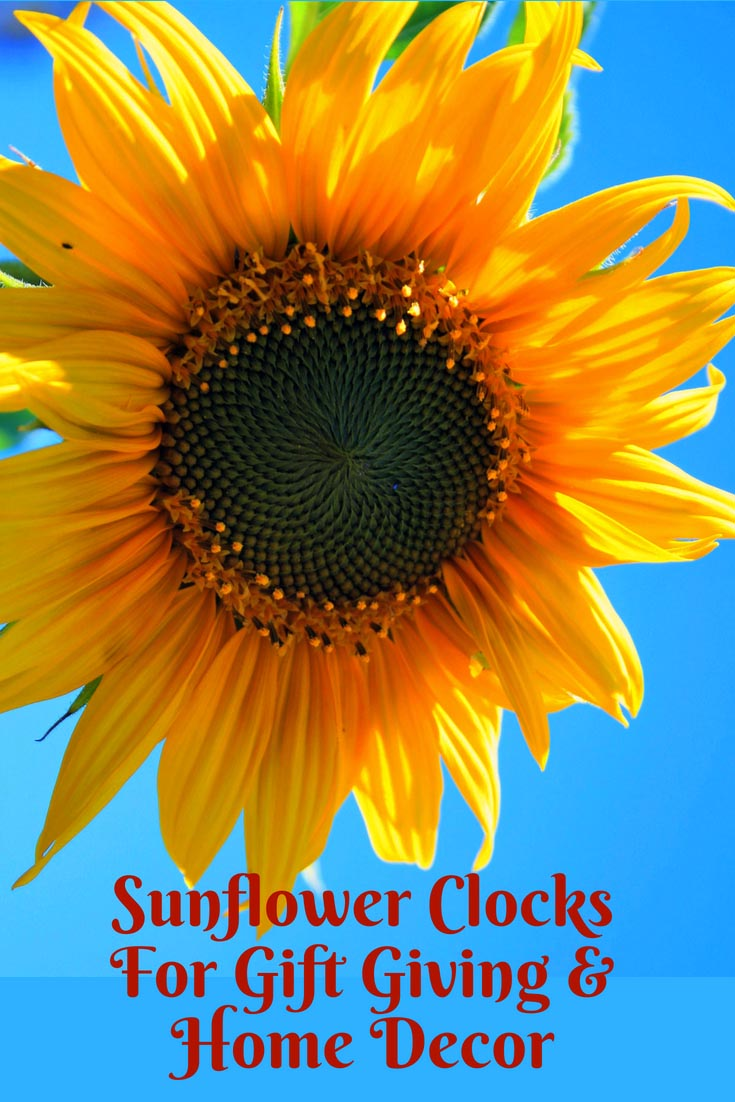 Sunflower Wall Clocks Kitchen For Home Decor Gifts