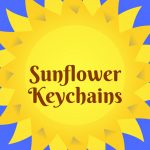 sunflower keychains