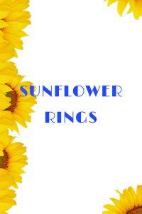 sunflower rings