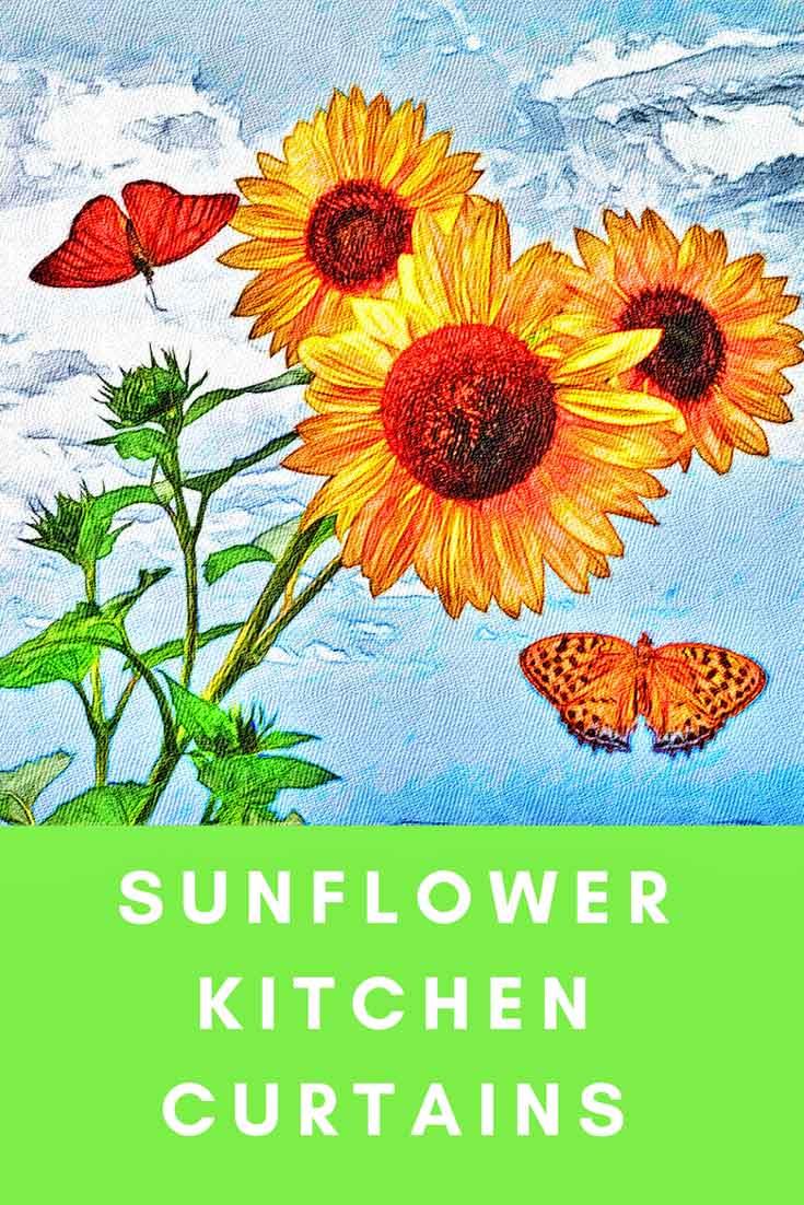 Sunflower kitchen curtains for sunflower themed kitchen decorations