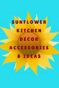 sunflower kitchen decor accessories