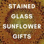 stained glass sunflower gifts