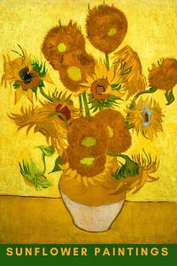 sunflower paintings for wall decor