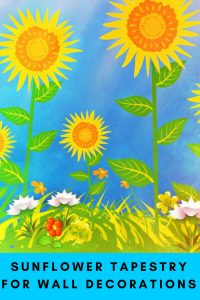 Sunflower Tapestry For Wall Decor