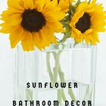 sunflower bathroom decor ideas and accessories