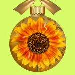 sunflower christmas ornaments