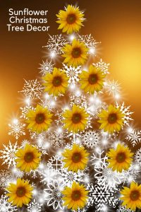 sunflower Christmas tree decorations