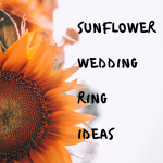 sunflower wedding rings