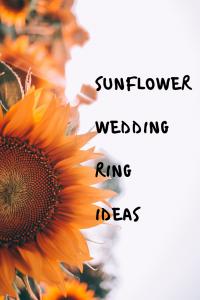 sunflower wedding rings